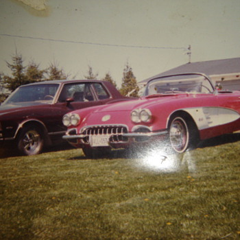 My 2 former babies, 1959 Corvette, & 1978 Monte Carlo - Photographs