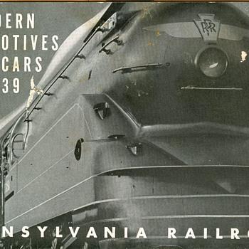 PRR Steam Locomotives and Cars circa 1939 - Railroadiana