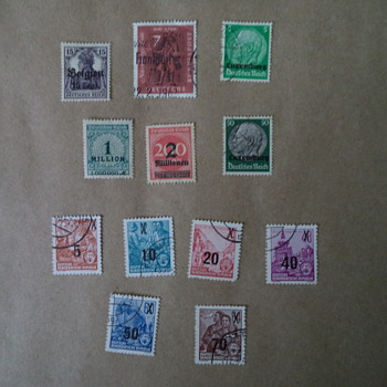 Germany Stamps, overprinted