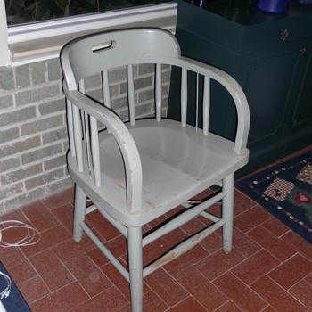 Federal Prison Industries Oak Office Chair - Furniture