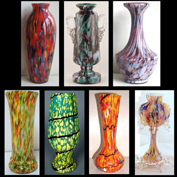 Czech Spatter Décors – Completely Random, or Controlled and Contrived Chaos? A repost from 2015 - Art Glass