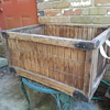 interesting old wooden crate