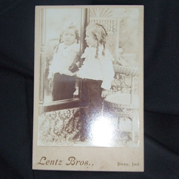 """Cabinet card """"Mirror"""" image of sweet child - Photographs"""