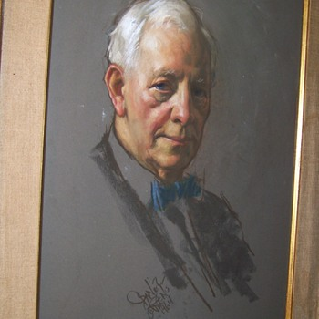Painting of the Famous Photographer Paul Juley Unknown Artist Signiture - Fine Art