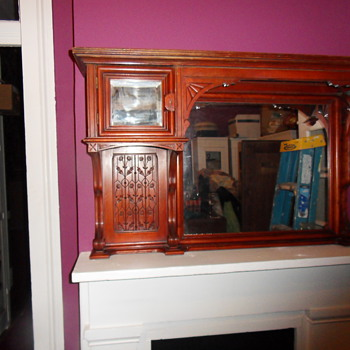 Aesthetic Eastlake Over-Mantel Mirror - Furniture