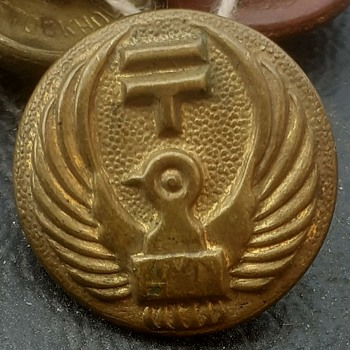 19th century Japanese Postman buttons.. Not sure - Asian