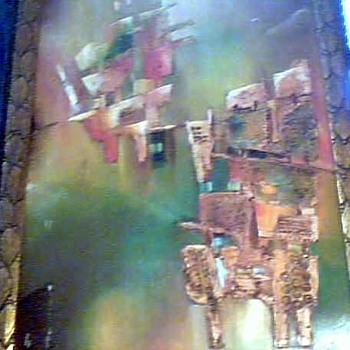 "20"" x 28"" (approx) Abstract signed ""Russell 94"""