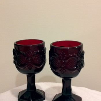 Vintage Avon Candle Holders - Glassware