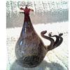"""Rene Burri """"Mundgeblassen"""" Rooster /Hand Blown """"Lamp Work"""" and Pigmented Glass /Circa 20th Century"""