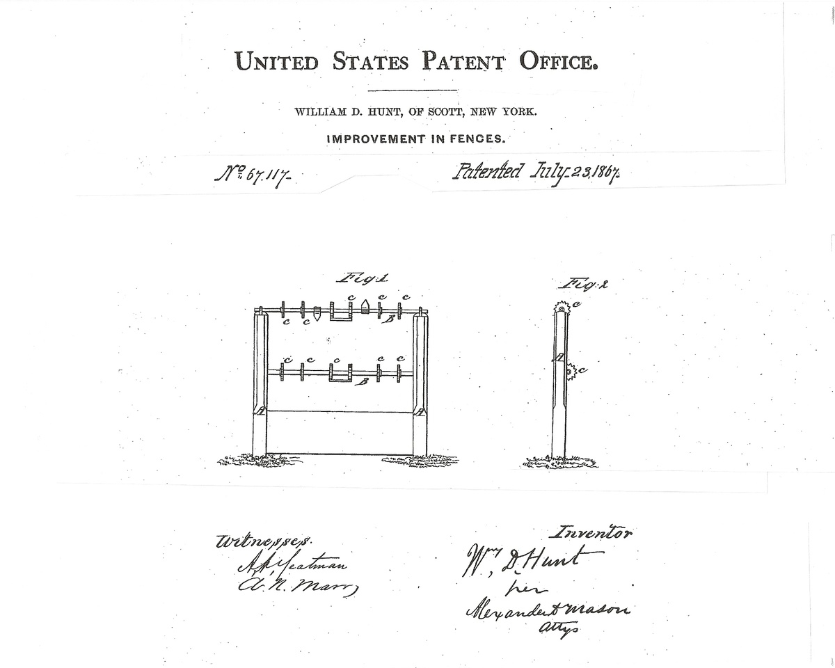 1867 BARBED WIRE - ONE OF THE EARLIEST PATENTS | Collectors Weekly