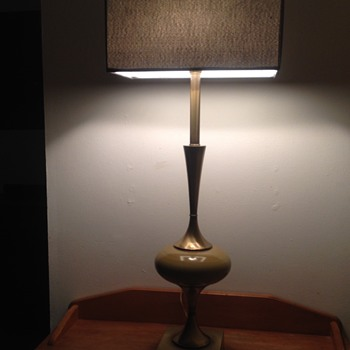 Mid Century Rembrandt Brass Table Lamp  - Lamps