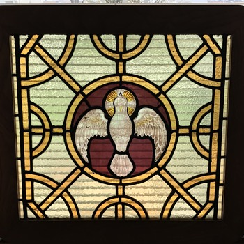 Stain glass dove  - Art Glass