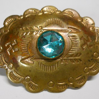 Vintage Native American Swastika Brooch, Ca 1930 - Fine Jewelry
