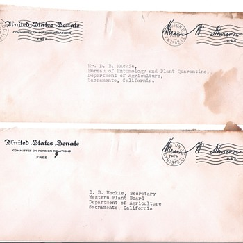 Senator signed covers from 1940's - Stamps