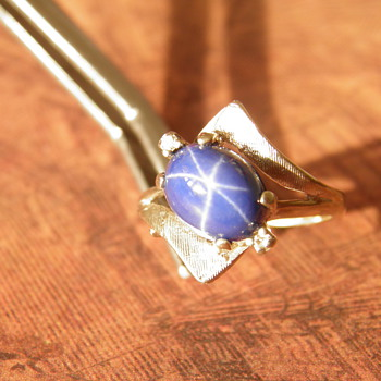 14K white gold Star Sapphire ring - Fine Jewelry