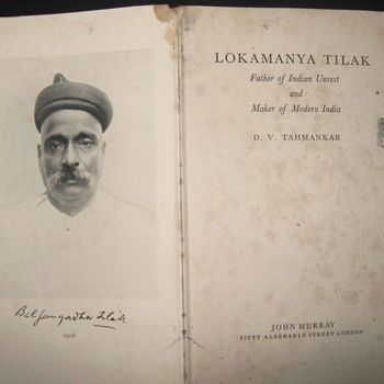 Lokmanya Tilak Father of Indian Unrest and Maker of Modern India with Typing Letter Words KESARI, Is It a Rare Book ? - Books