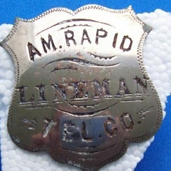 Telephone Company Employee Badge's - Telephones