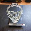 Clear Art Glass Basket -- Pilgrim Art Glass