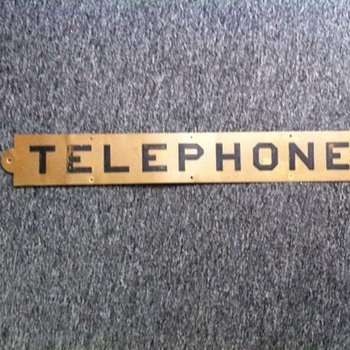 Vintage Tin Telephone Sign