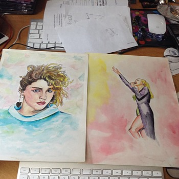madonna water color by garrett or whoever  - Fine Art