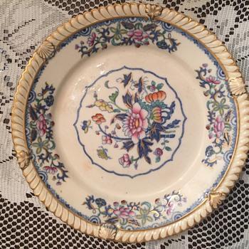 Blue ivory porcelain plate  - Pottery