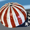 Original Hippie Counter Culture SuperLite Hard Hat w Painted Flag & Peace Symbol.