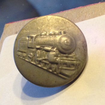 Railroad metal Train Button stamped 1913-1918