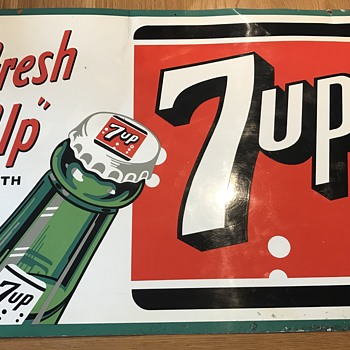 7up fresh up sign - Advertising