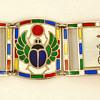 Deco Egyptian Revival Enamel Bracelet