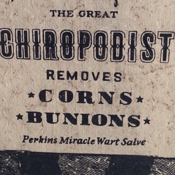 Yorkraft Primitive Wood Sign Dr advertising Chiropidist - Advertising