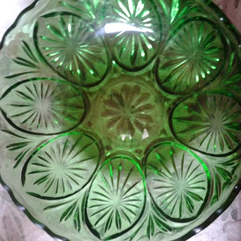 green glass bowl - Glassware