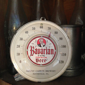 Mount Carbon Brewery Thermometer - Breweriana