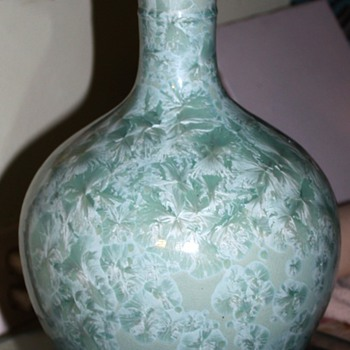 "15"" tall crystalline glaze vessel - Jingdezen c. 1970 - Asian"