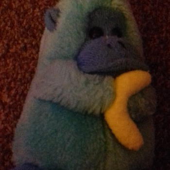 Blue Monkey Holding Banana Imported by PMS