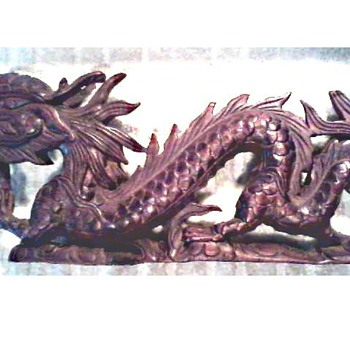 Eastern Dragon Wood Carving / Unknown Maker and Age - Asian