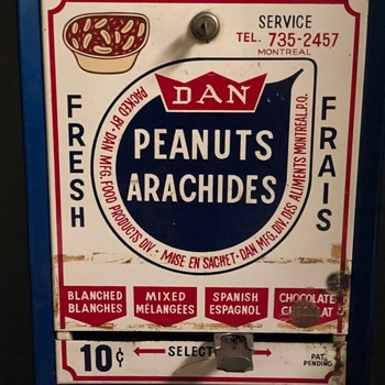 Antique Nut Vending Machine - Advertising
