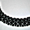 SHERMAN JET BLACK FIVE ROW MARQUISE CRYSTAL BRACELET