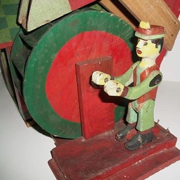 Water Wheel Whirligig Folk Art Sculpture - Folk Art