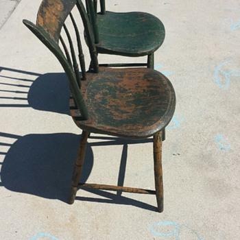 vintage wood chairs - Furniture