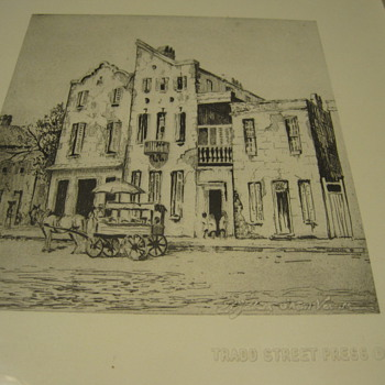 "Elizabeth O'Neill Verner ""Close Neighbors""  Etching Print - Posters and Prints"