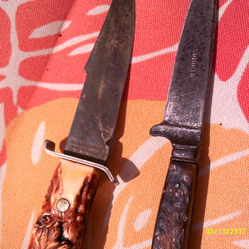 antique bavarian nicker knife and a decora - Sporting Goods