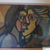 painting- ripolin on fiberboard type panel