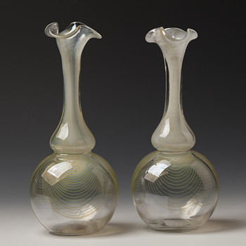 Harrach »Tiffany Pfau« vases - Art Glass