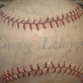 Wally Moses signed Lively League Baseball