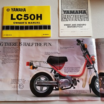 Yamaha Champ (LC50H) owners manual from the mid-80s.  Excellent shape! - Motorcycles