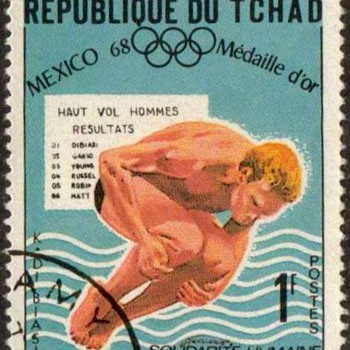 "1969 - Chad ""Olympic Sports"" Postage Stamps - Stamps"