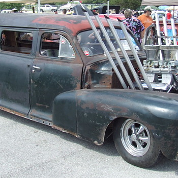Here are a few of my favorite Rat Rods from last years show  - Classic Cars
