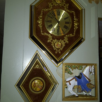 Empire Clock with fur and Godey decorated - Clocks