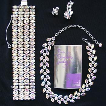 B. David Rhinestone Set - Costume Jewelry