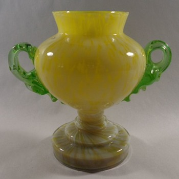 Welz Glass Trophy Vase - Art Glass